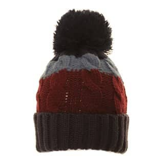 Boys three striped knitted bobble hat from wholesale hat supplier SSP Hats