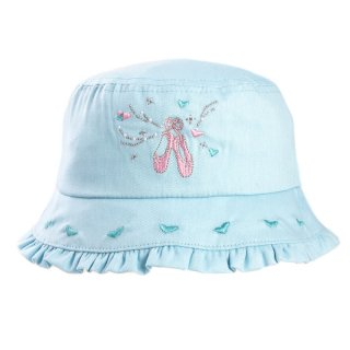 Wholesale girls bush hat with ballerina design in blue
