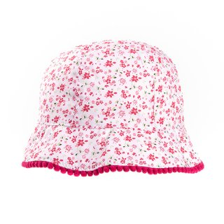 Bulk girls white floral wide brim hat