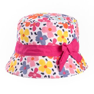 Wholesale girls colourful flower print bush hat