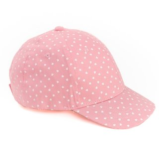 Wholesale girls pink baseball cap featuring heart designs