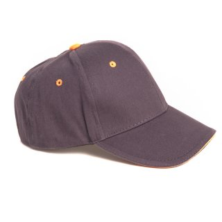 Wholesale dark grey boys plain baseball cap