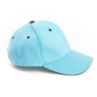 Wholesale girls plain baseball cap in light blue