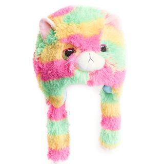 Wholesale girls multi coloured novelty cat hat