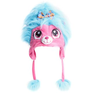 Wholesale girls novelty furry bear hat in pink