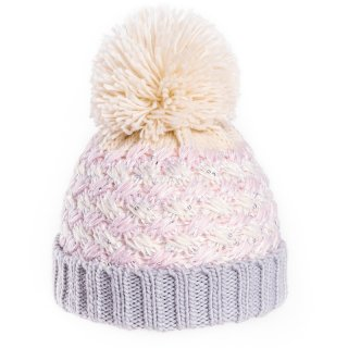 C602-GIRLS BOBBLE HAT WITH SEQUINS
