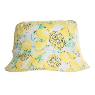 Wholesale girls lemon print bush hat