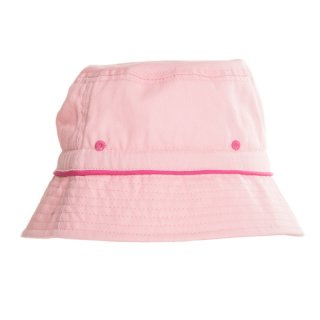 Wholesale childrens unisex plain bush hat with pink colour scheme