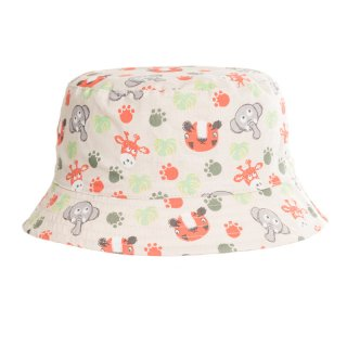 Wholesale bush hat for boys with cute animal print