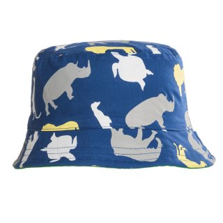 Bulk reversible bush hat with animal print developed from cotton