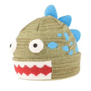 Wholesale kids green dinosaur novelty ski hat