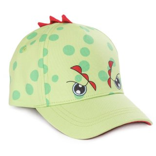 Wholesale kids unisex green dinosaur baseball cap developed from cotton