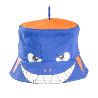 Wholesale kids blue unisex novelty shark bush hat developed from cotton