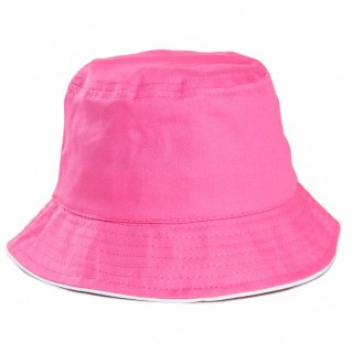Wholesale kids unisex plain bush hat in pink developed from cotton