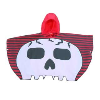 Wholesale skull poncho from the front
