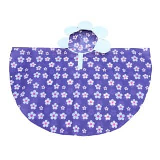 Wholesale purple flower poncho