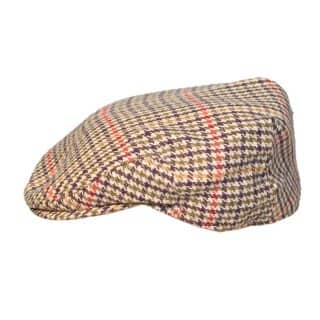 Wholesale mixed fibre flat cap in medium size