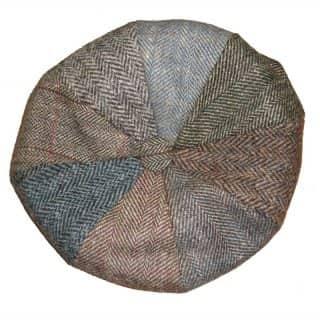 HARRIS TWEED 8-PANEL CAP