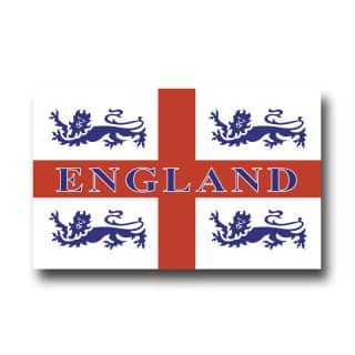 Wholesale england 4 lions car flag
