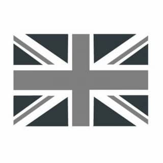 GREY UNION JACK FLAG 5x3