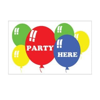 Wholesale party here flag in 5' x 3'