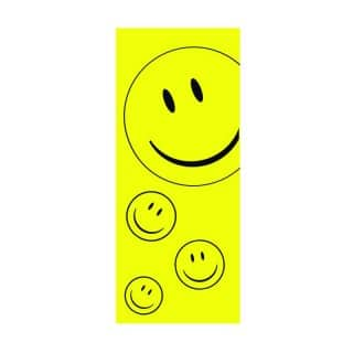 YELLOW SMILEY FACE FLAG 3x8