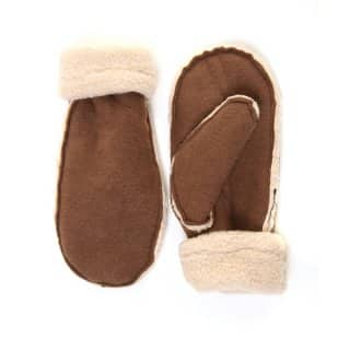 Wholesale adults mitts with barber fleece