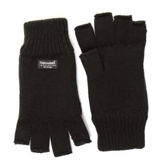 Wholesale black thinsulate fingerless gloves