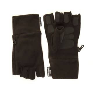 Wholesale black thinsulate fleece fingerless gripper gloves