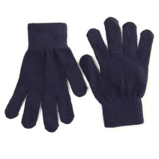 Wholesale adults magic stretch gloves in navy