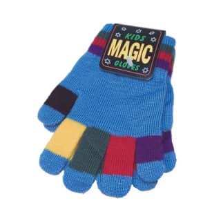 Wholesale childrens multi-coloured magic gloves