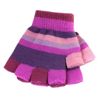 Wholesale magic gloves for girls with plum and purple colour scheme