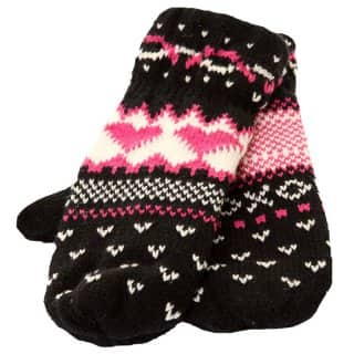 GIRL'S KNITTED MITTENS