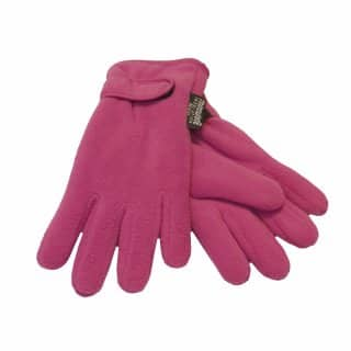Wholesale girls fleece thinsulate gloves in maroon