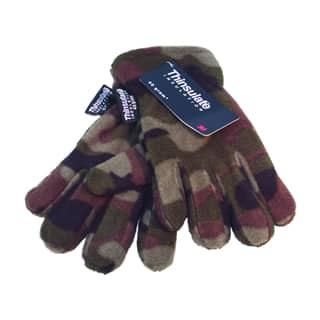 Wholesale boys thinsulate camo gloves
