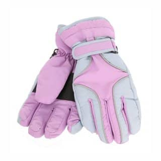 Wholesale girls waterproof ski gloves in pink