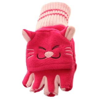 Wholesale childrens novelty cats fleece shooter mitts