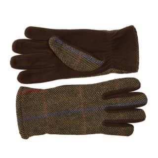 Wholesale ladies brown tweed gloves