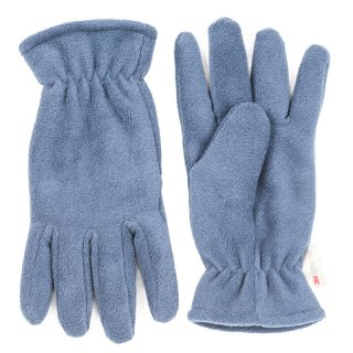 Wholesale fleece thinsulate glove with elastic cuff in light blue