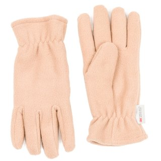 Wholesale fleece thinsulate glove with elastic cuff in beige