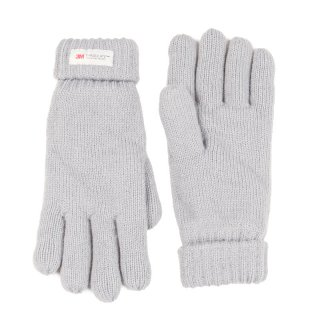 Wholesale ladies knitted thinsulate glove in grey