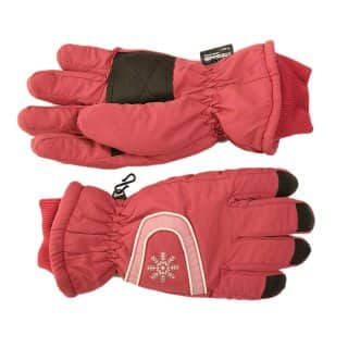 Wholesale womens thinsulate ski gloves with gripper in dark pink