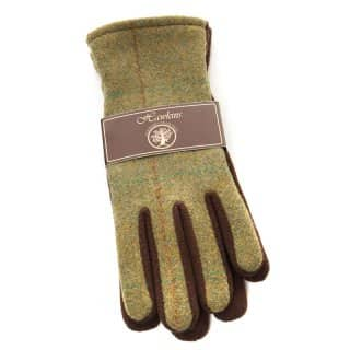 Wholesale ladies tweed gloves in packs of twelve