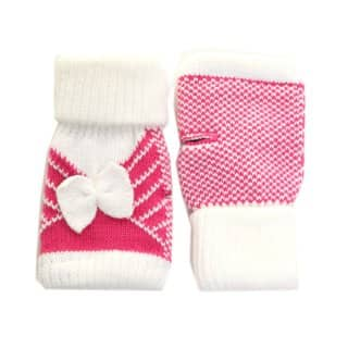 GL67 - LADIES FINGERLESS GLOVES WITH BOW