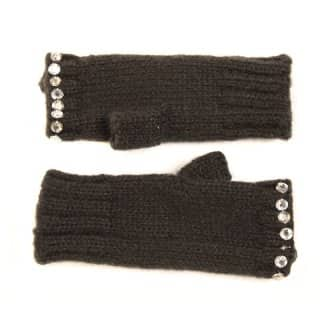 GL72 - LADIES FINGERLESS GLOVES WITH GEM TRIMS