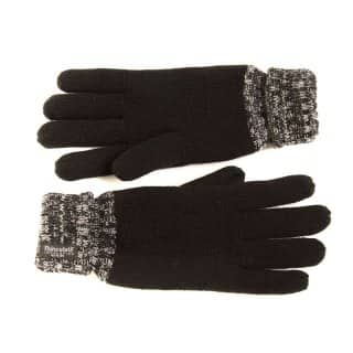 Wholesale mens 2-tone black and grey thinsulate knitted gloves