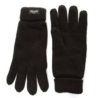 Wholesale mens knitted thinsulate gloves in black