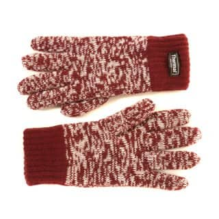 Wholesale red mens thinsulate marl glove