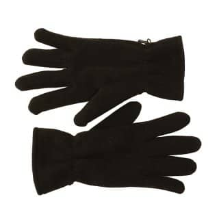 Wholesale Mens basic fleece gloves in black