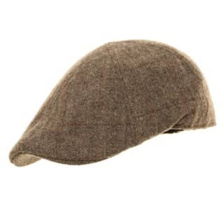 Wholesale adults assorted light grey tweed flat caps with preformed peaks